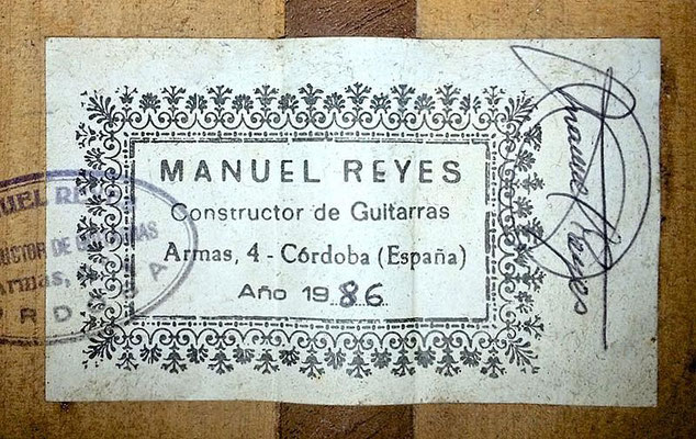 Manuel Reyes 1986 - Guitar 1 - Photo 3