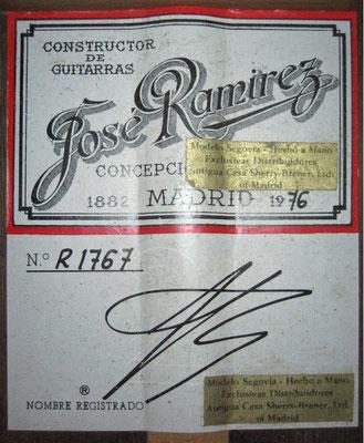 Jose Ramirez 1976 - Guitar 1 - Photo 2