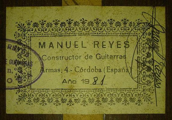 Manuel Reyes 1981 - Guitar 3 - Photo 1