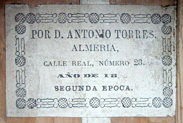 Antonio de Torres 1886 - Guitar 1 - Photo 11