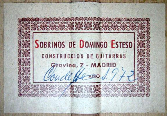 Sobrinos de Domingo Esteso 1972 - Guitar 4 - Photo 7