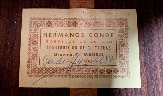 Hermanos Conde 1980 - Paco de Lucia - Label - Guitar 1 - Photo 7