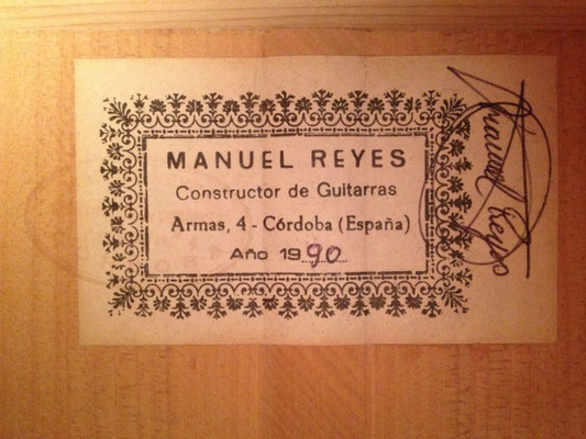 Manuel Reyes 1990 - Guitar 2 - Photo 2