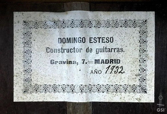 Domingo Esteso 1932 - Guitar 4 - Photo 6