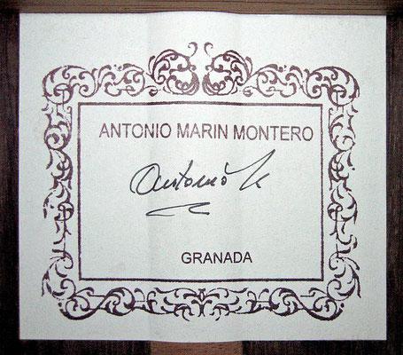 Antonio Marin Montero 2005 - Guitar 1 - Photo 1