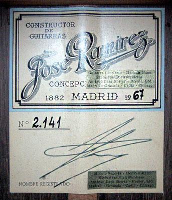 Jose Ramirez 1967 - Guitar 4 - Photo 4