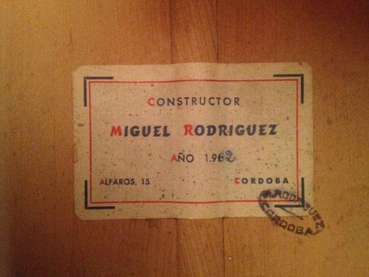 Miguel Rodriguez 1962 - Guitar 4 - Photo 2