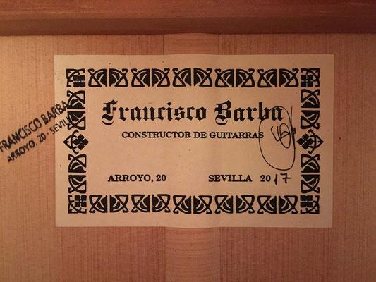 Francisco Barba 2017 - Guitar 2 - Photo 3