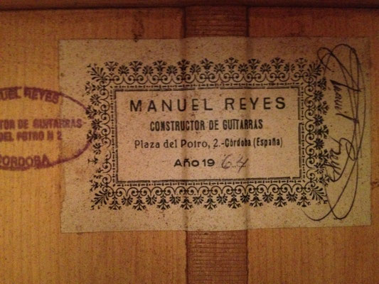 Manuel Reyes 1964 - Guitar 1 - Photo 2