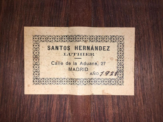 Santos Hernandez 1921 - Guitar 3 - Photo 4