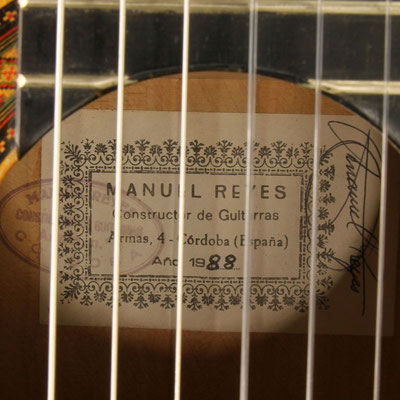 Manuel Reyes 1988 - Guitar 4 - Photo 9