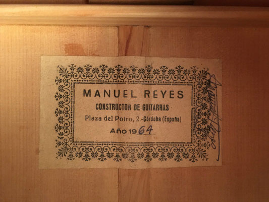 Manuel Reyes 1964 - Guitar 4 - Photo 31
