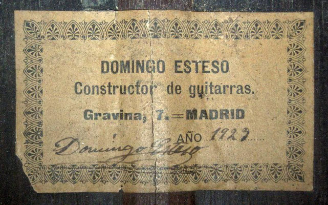 Domingo Esteso 1929 - Guitar 3 - Photo 17