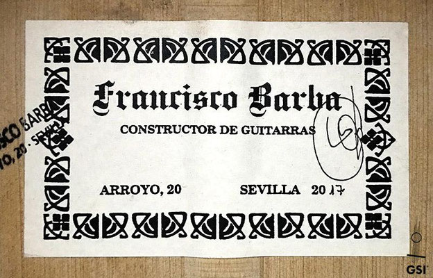 Francisco Barba 2017 - Guitar 5 - Photo 3