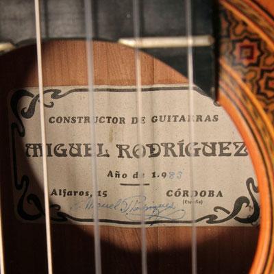 Miguel Rodriguez 1983 - Guitar 3 - Photo 4