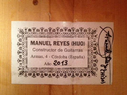 Manuel Reyes Hijo 2013 - Guitar 1 - Photo 2