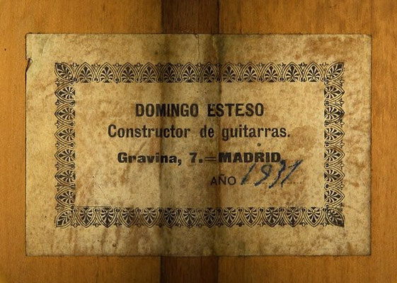 Domingo Esteso 1931 - Guitar 5 - Photo 4