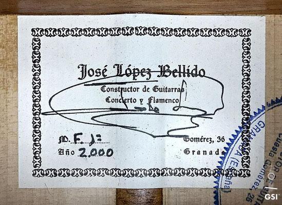 Jose Lopez Bellido 2000 - Guitar 1 - Photo 6