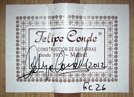 Felipe Conde 2012 - Guitar 9 - Photo 6
