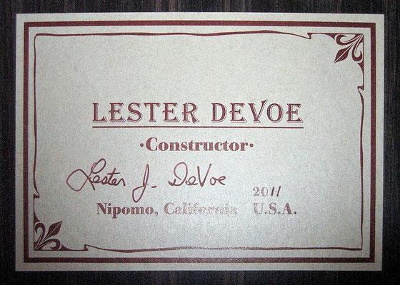 Lester Devoe 2011 - Guitar 1 - Photo 1