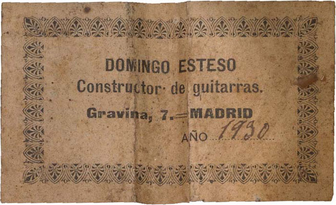 Domingo Esteso 1930 - Guitar 2 - Photo 3