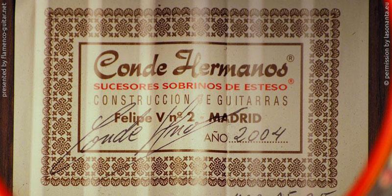 HERMANOS CONDE - SOBRINOS DE ESTESO 2004 - LABEL - ETIKETT - ETIQUETA