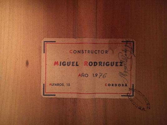 Miguel Rodriguez 1976 - Guitar 1 - Photo 4