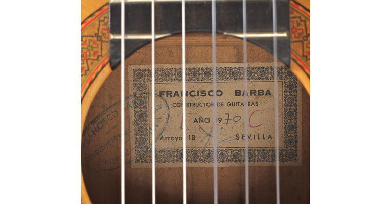 Francisco Barba 1970 - Guitar 1 - Photo 6