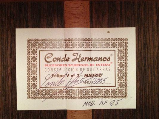 Hermanos Conde 2005 - Guitar 5 - Photo 2