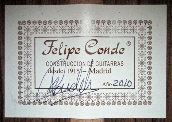 Felipe Conde 2010 - Guitar 4 - Photo 6