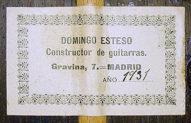 Domingo Esteso 1931 - Guitar 3 - Photo 6