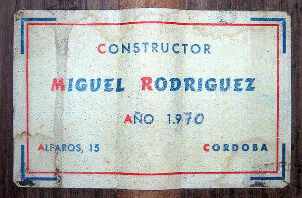 Miguel Rodriguez 1970 - Guitar 2 - Photo 6