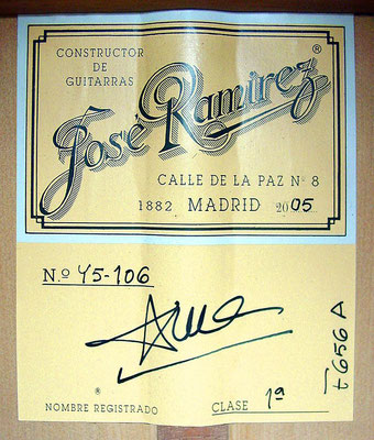 Jose Ramirez 2005 - Guitar 2 - Photo 5