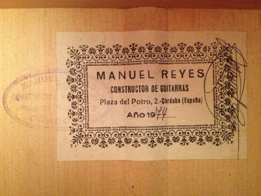 Manuel Reyes 1974 - Guitar 3 - Photo 2