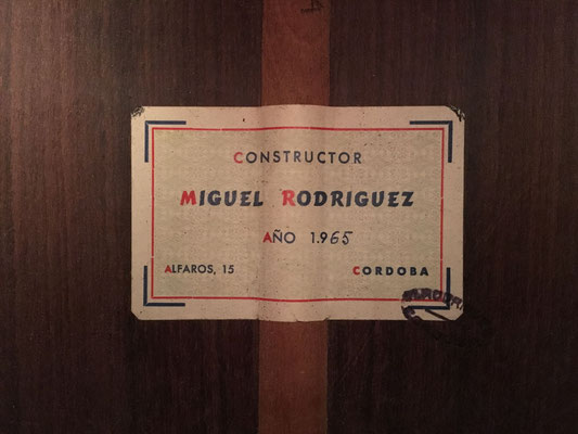 Miguel Rodriguez 1965 - Guitar 2 - Photo 4