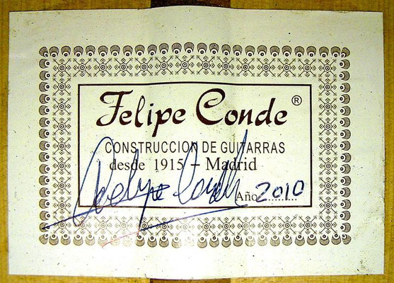 Felipe Conde 2010 - Guitar 6 - Photo 6