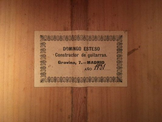 Domingo Esteso 1931 - Guitar 7 - Photo 3