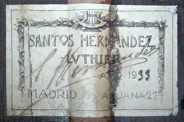 Santos Hernandez 1933 - Guitar 2 - Photo 3