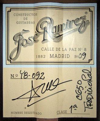 Jose Ramirez 2009 - Guitar 3 - Photo 3