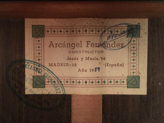 Arcangel Fernandez 1989 - Guitar 1 - Photo 3