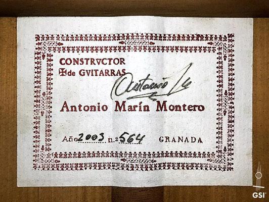 Antonio Marin Montero 2003 - Guitar 1 - Photo 3