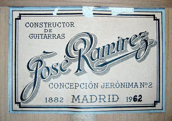 Jose Ramirez 1962 - Guitar 3 - Photo 11