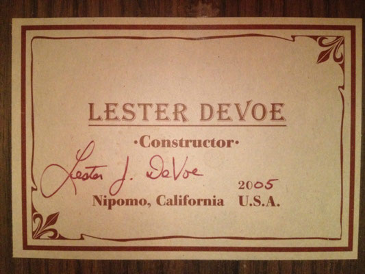 Lester Devoe 2005  - Guitar 4 - Photo 2