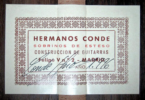 Hermanos Conde - Sobrinos de Esteso - 1996 - Guitar 3 - Photo 6