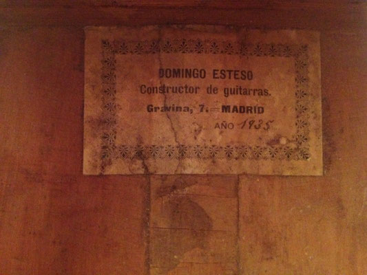 Domingo Esteso 1935 - Guitar 2 - Photo 2