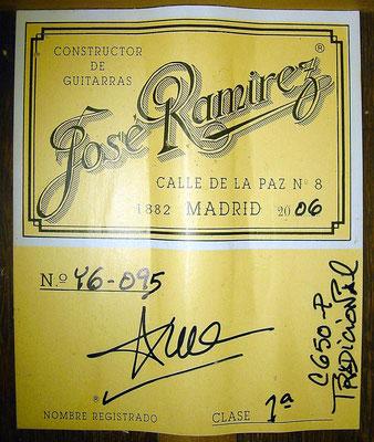 Jose Ramirez 2006 - Guitar 3 - Photo 6