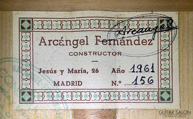 Arcangel Fernandez 1961 - Guitar 3 - Photo 3