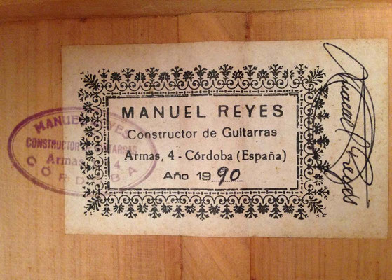 Manuel Reyes 1990 - Guitar 3 - Photo 22