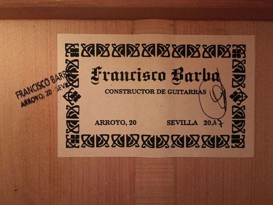 Francisco Barba 2017 - Guitar 1 - Photo 3