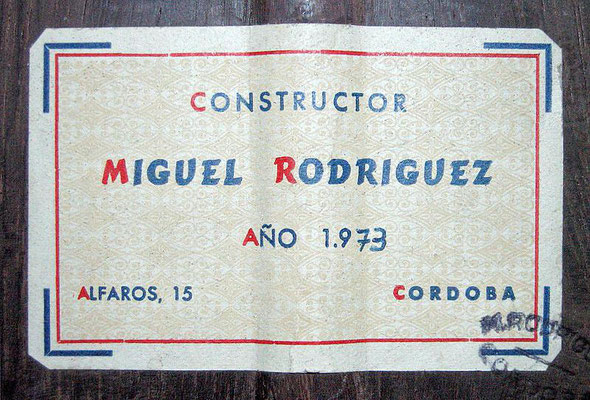 Miguel Rodriguez 1973 - Guitar 1 - Photo 6